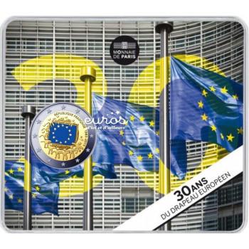 2 euros BU France 2015 colorisée - 30ème anniversaire du drapeau européen