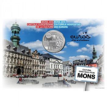 Coincard 5 euros Belgique 2015 - Mons, Capitale Européenne de la Culture