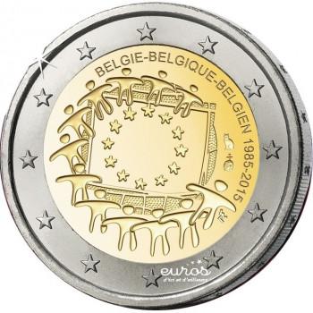2 euros Belgique 2015 - 30ème anniversaire du drapeau