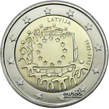 2 euros Lettonie 2015 - 30ème anniversaire du drapeau européen