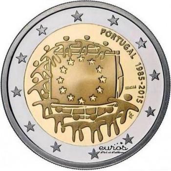 2 euros Portugal 2015 - 30 ans du drapeau européen