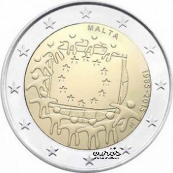 2 euros MALTE 2015 - 30ème anniversaire du drapeau européen