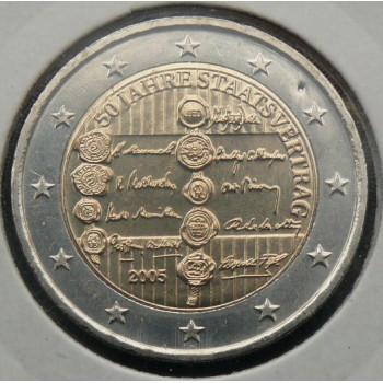 2 euros commémorative AUTRICHE 2005 - Traité d'Etat Autrichien