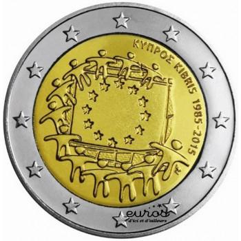 2 euros commémorative commune  CHYPRE 2015 - 30ème anniversaire du drapeau européen - UNC