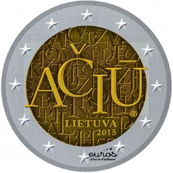 2 euros commémorative LITUANIE 2015 - Langue Lituanienne - UNC
