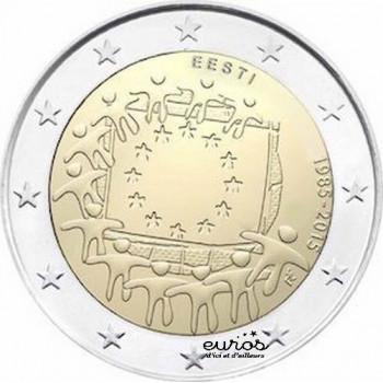 2 euros Estonie 2015 - 30ème anniversaire du drapeau européen