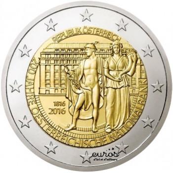 2 euros commémorative AUTRICHE 2016 - 200ème anniversaire de la Banque Nationale d'Autriche