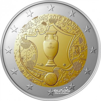 2 euros commemorative France 2016 - Coupe de l'UEFA EURO 2016 - Football