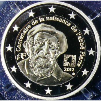 2 euros commémorative FRANCE 2012 - Abbé Pierre