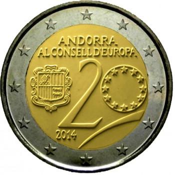 2 euros commémorative Andorre 2014 BU - Conseil de l'Europe