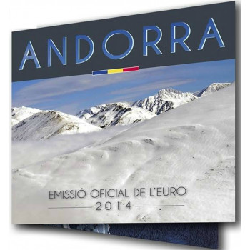 Set BU ANDORRE 2014 - Série 1 cent à 2 euros
