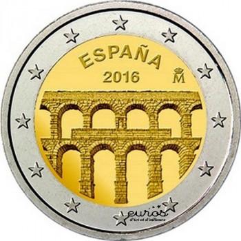 2 euros Espagne 2016 - Aqueduc de Segovie