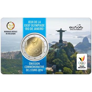Coincard 2 euros Belgique 2016 - La Belgique aux Jeux Olympiques d'été à Rio de Janeiro