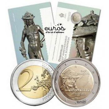 2 euros commémorative SAINT MARIN 2016 - Donatello -BU