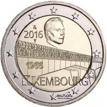 2 euros Luxembourg 2016 - 50 ans du Pont Grande Duchesse Charlotte