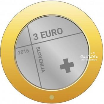 3 euros Slovénie 2016 - 150ème anniversaire de la Croix Rouge Slovène