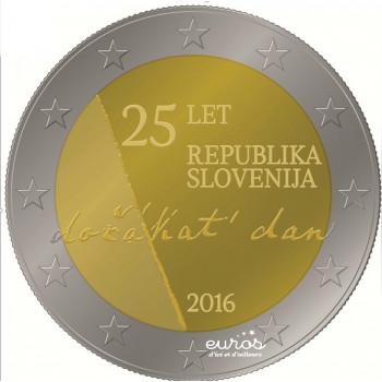 2 euros Slovénie 2016 - 25ème anniversaire de l'indépendance de la Slovénie