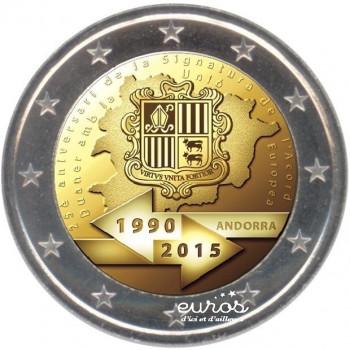 2 euros ANDORRE 2015 - 25ème anniversaire de l'union douanière