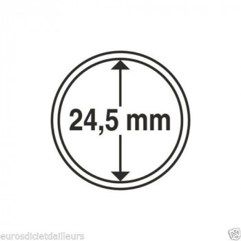 Capsules rondes x 10 - Diamètre 24.5mm - LEUCHTTURM