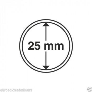 Capsules rondes x 10 - Diamètre 25mm - LEUCHTTURM