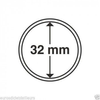 Capsules rondes x 10 - Diamètre 32mm - LEUCHTTURM