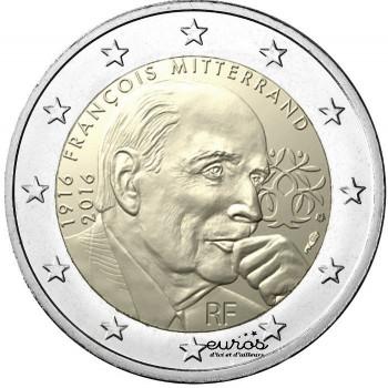 2 euros commémorative France 2016 - François Mitterrand