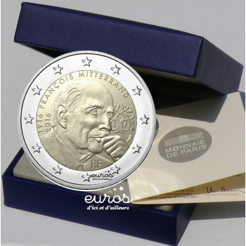 2 euros BE France 2016 - François Mitterrand - Version Belle Epreuve
