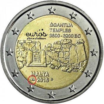 2 euros Malte 2016 - Ggantija - comportant le poinçon Monnaie de Paris