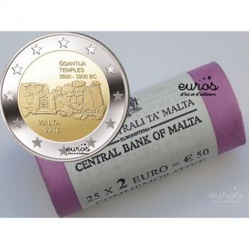 Rouleau 25 x 2 euros commémoratives Malte 2016 - Ggantija