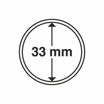 Capsules rondes x 10 - Diamètre 33mm - LEUCHTTURM