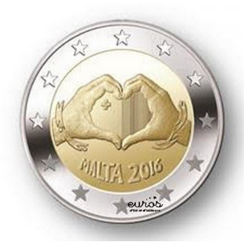 2 euros commémorative MALTE 2016 - Love, l'Amour
