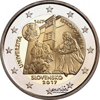 2 euros Slovaquie 2017 - 550e anniversaire de la création de l'Université Istropolitana
