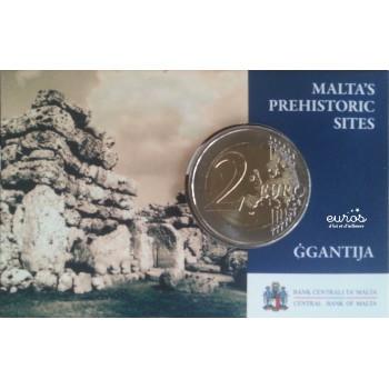 Coincard 2 euros Malte 2016 Ggantija comportant le poinçon de la Monnaie de Paris