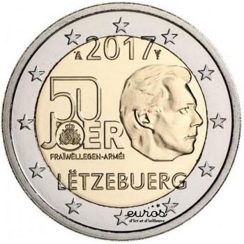 2 euros Luxembourg 2017 - 50ème anniversaire du volontariat dans l'armée