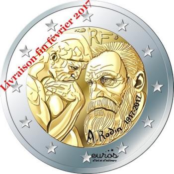 2 euros commemorative FRANCE 2017 - Auguste Rodin - UNC