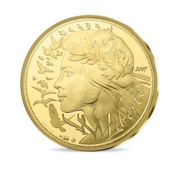 250 euros France 2017 en or...