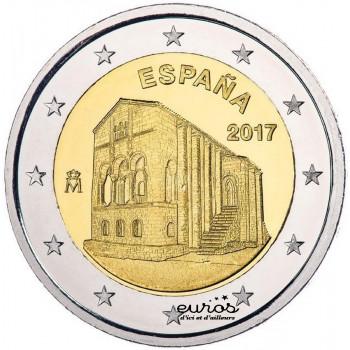 2 euros Espagne 2017 - Eglise Santa Maria del Naranco