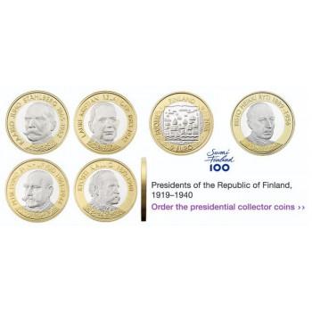 5 x 5€ Finlande 2016 et 2017 - Les Présidents de la Finlande