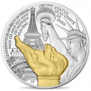 10 euros argent France 2017 - Trésors de Paris - La Statue de la Liberté