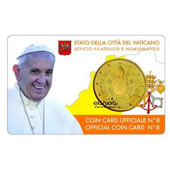 Coincard 0,50€ Vatican 2017 n°8 - Le Saint Père