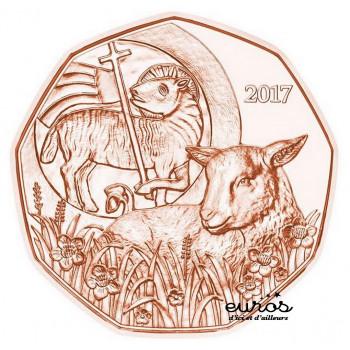 5 euros AUTRICHE 2017 en cuivre - Paques - UNC