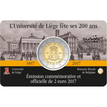 Coincard 2 euros Belgique 2017 - 200 ans de l'Université de Liège