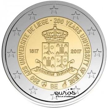 2 euros commémorative BELGIQUE 2017 - 200 ans de l'Université de Liège - UNC