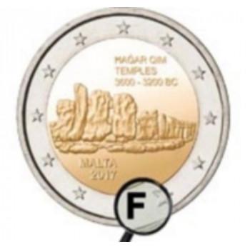 2 euros BU Malte 2017 - Hagar Qim avec différent
