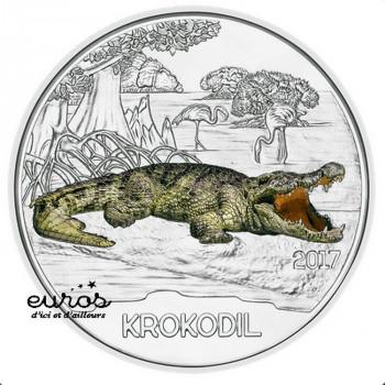 3 euros Autriche 2017 - Le Crocodile - Série animaux 3/12