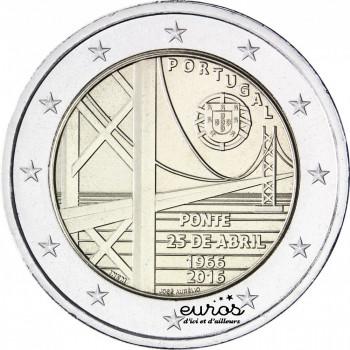 2 euros Portugal 2016 - 50ème anniversaire du Pont du 25 avril