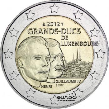 2 euros commémorative LUXEMBOURG 2012 - 100ème anniversaire de la mort du Grand-Duc Guillaume IV