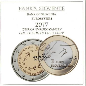 Set BU SLOVENIE 2017 - Série 1 cent à 2 euros + 2€ cc + 3€