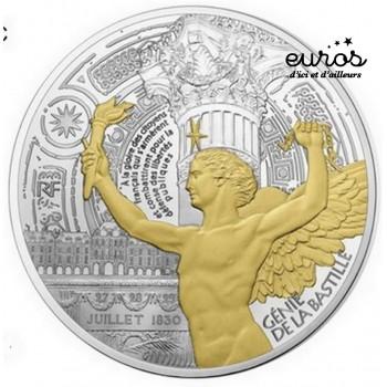 50 euros argent France 2017 - Trésors de Paris - Ange de la Bastille