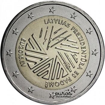 2 euros commémorative Lettonie 2015 - Présidence de l'Union Européenne